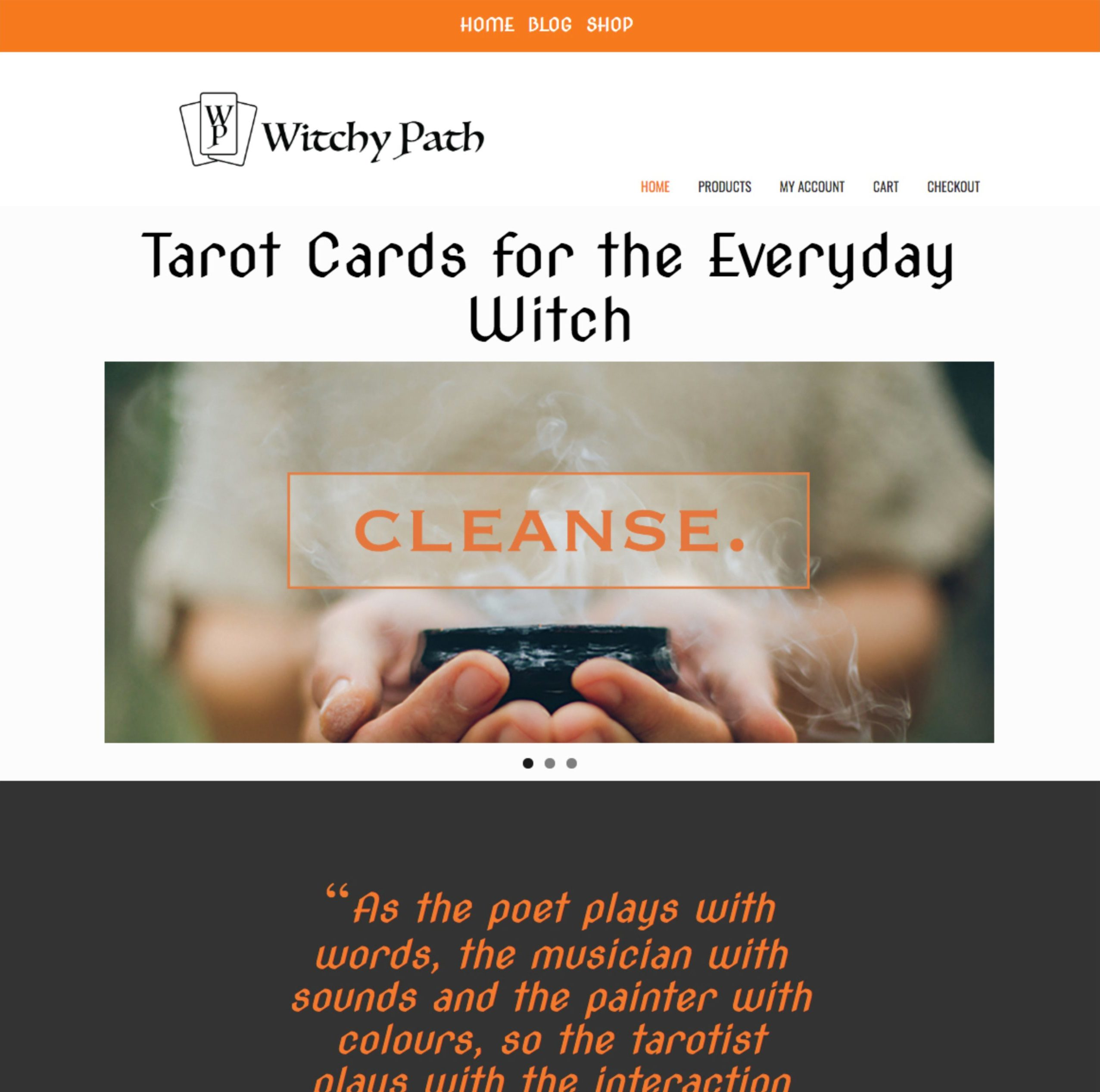 WitchyPath Website 1