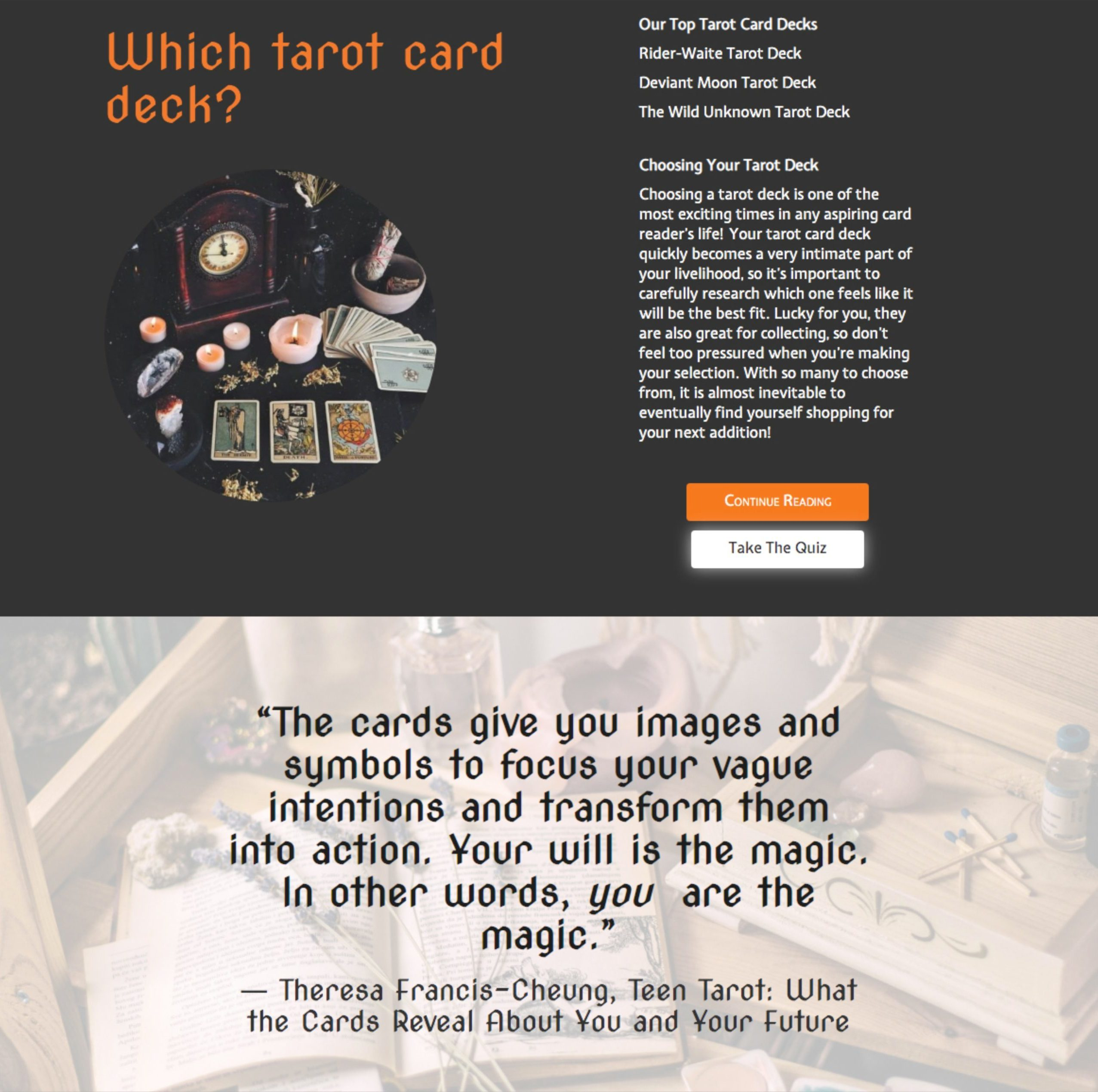 WitchyPath Website 3