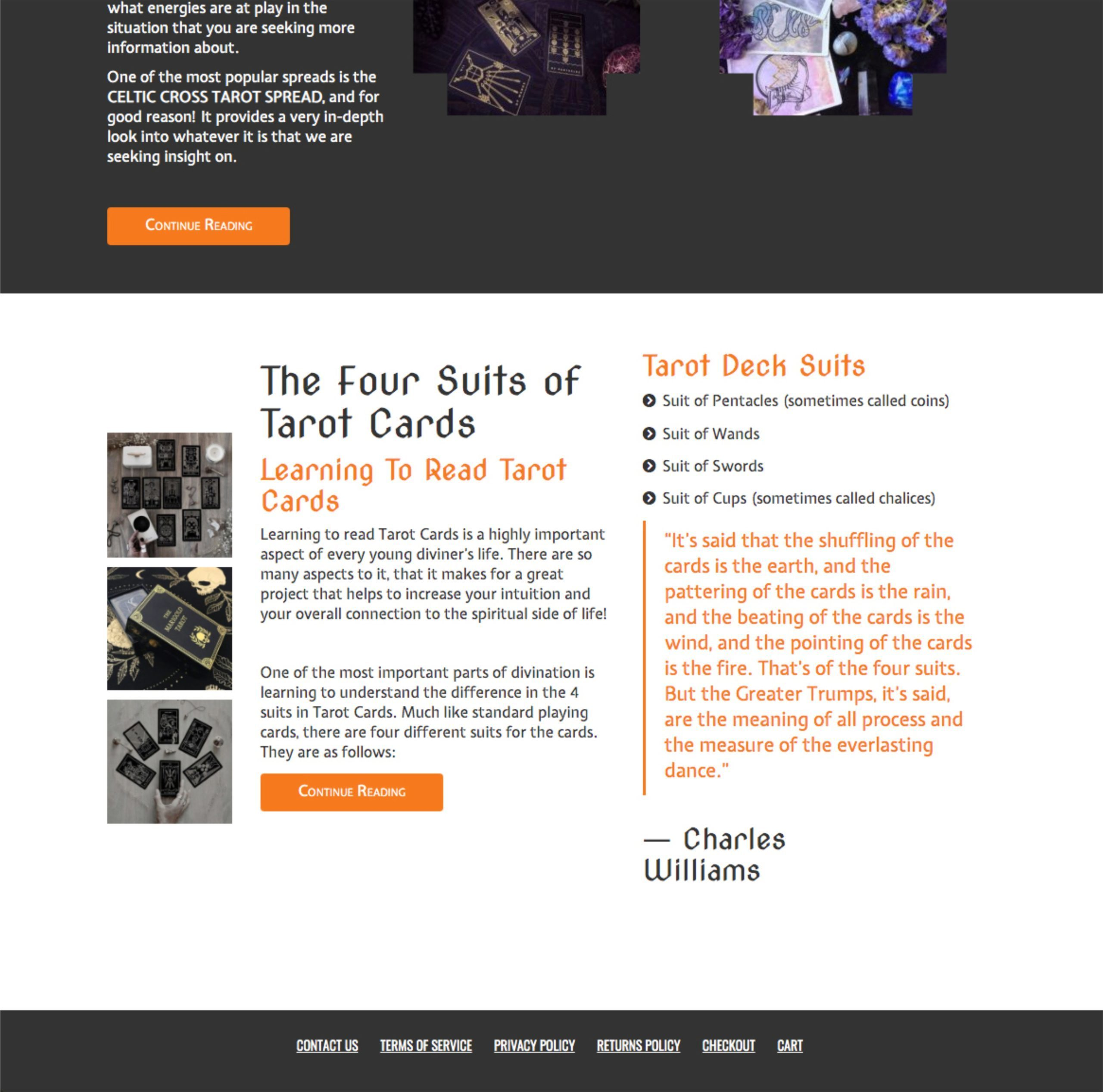 WitchyPath Website 4